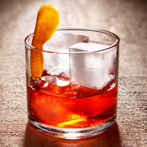 This old fashioned is so pure, they won't even let the orange peel touch the bourbon.